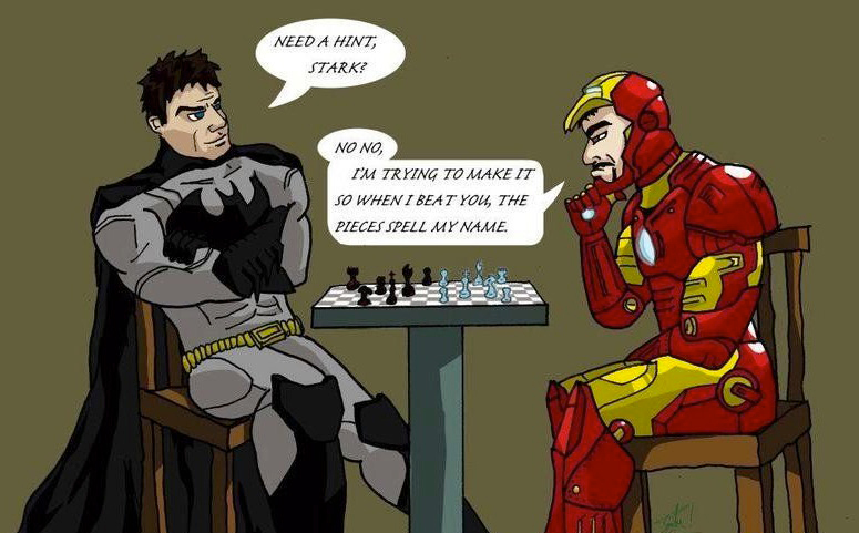 bat vs ironman
